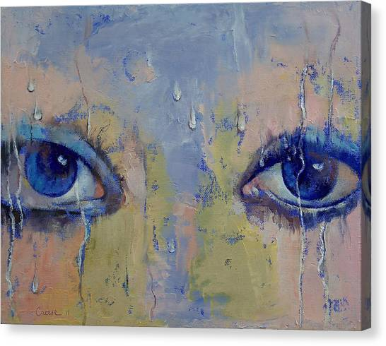 Gota Canvas Print - Raindrops by Michael Creese