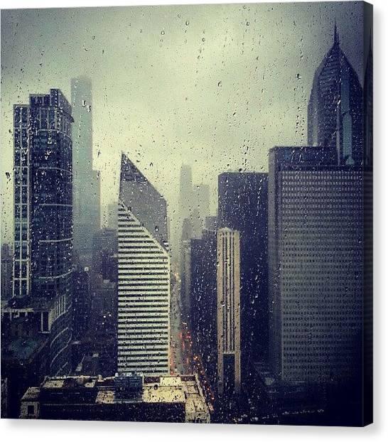 Rain Canvas Print - Raindrops On My Window by Jill Tuinier