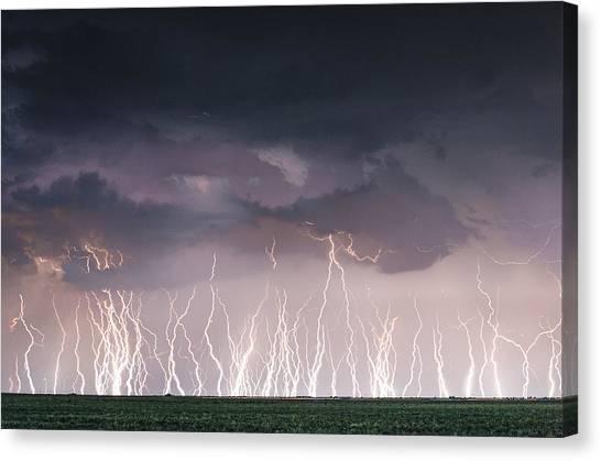 Raining Electricity Canvas Print