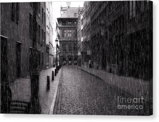 Raining In Amsterdam Canvas Print