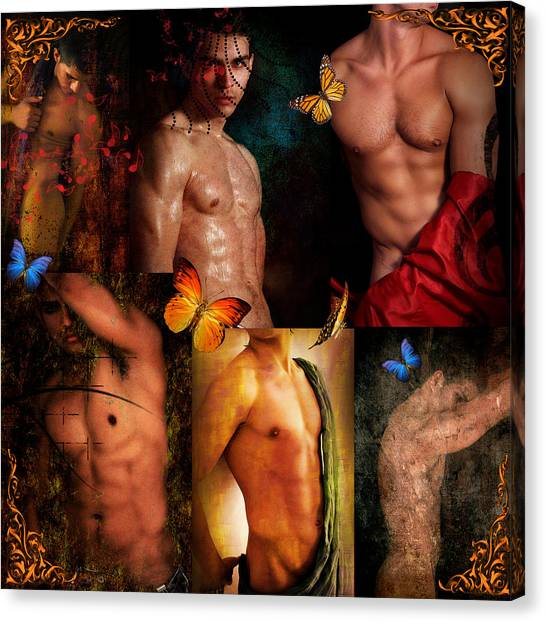 Bodybuilder Canvas Print - Raining Man by Mark Ashkenazi