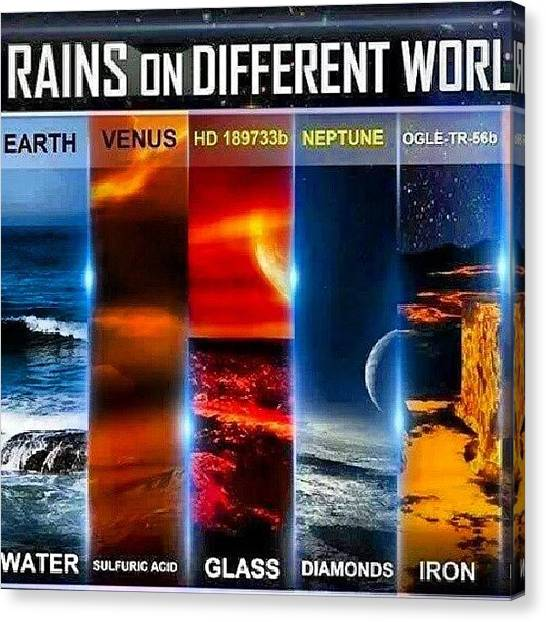 Venus Canvas Print - Rains On Other Worlds #wow #repost by Brandon Fisher