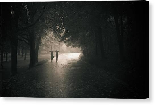 Montreal Canvas Print - Rainy Afternoom by Pedram Khoshbakht