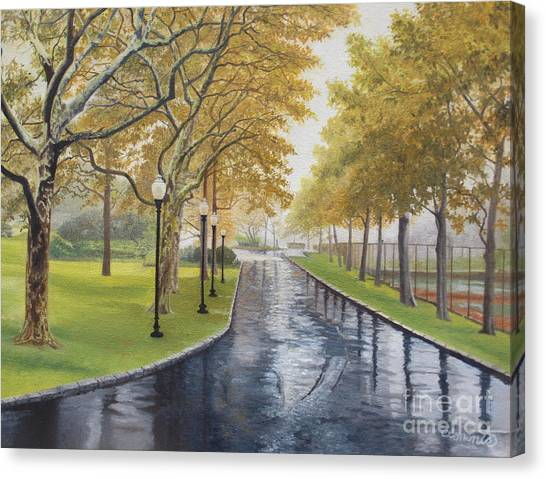 Rainy Afternoon At Montauk Canvas Print