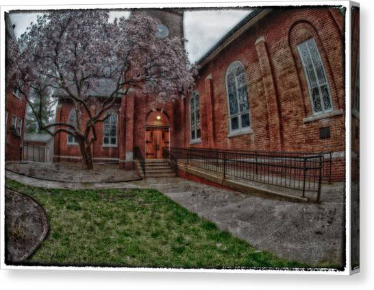 Rainy Church Canvas Print