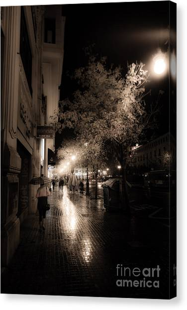 Rainy City Streets  Canvas Print