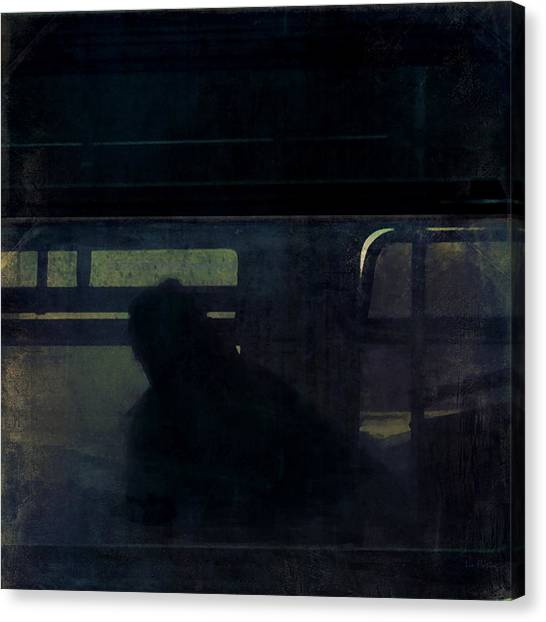 Rainy Commute Canvas Print