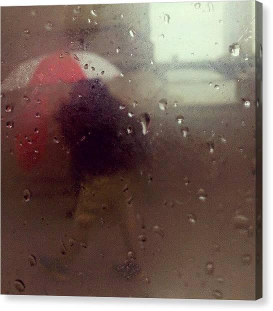Rain Canvas Print - Rainy Day Chicago by Jill Tuinier