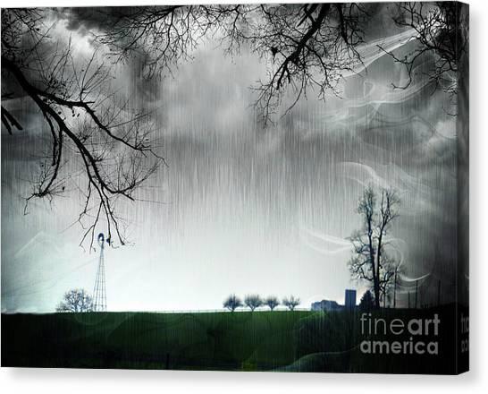 Rainy Day Farm Ver-5 Canvas Print
