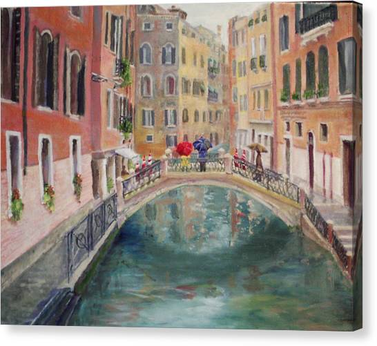 Rainy Day In Venice Canvas Print