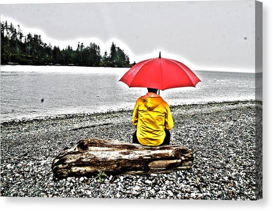 Rainy Day Meditation Canvas Print