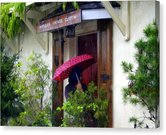 Rainy Day People Canvas Print