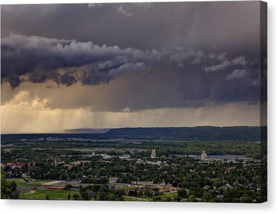 Mississippi State University Canvas Print - Rainy Evening by Al  Mueller