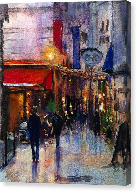 Rainy Evening Canvas Print by Carlos Herrera