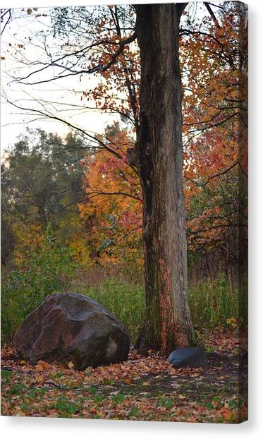 Rainy Fall Day Canvas Print by Jennifer  King
