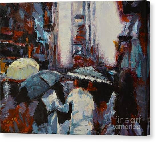 Rainy New York Canvas Print