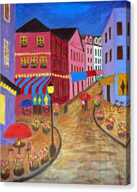 Rainy Night In Paris Canvas Print