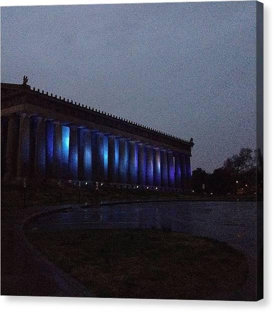 The Parthenon Canvas Print - Rainy #parthenon #nashville by Mary Brace