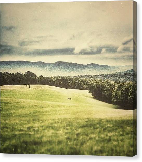 Vermont Canvas Print - Rainy Weather Pushing Through The by James Whaley Cart