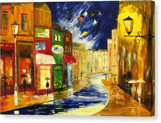 Rainy Weekend Canvas Print by Mariana Stauffer