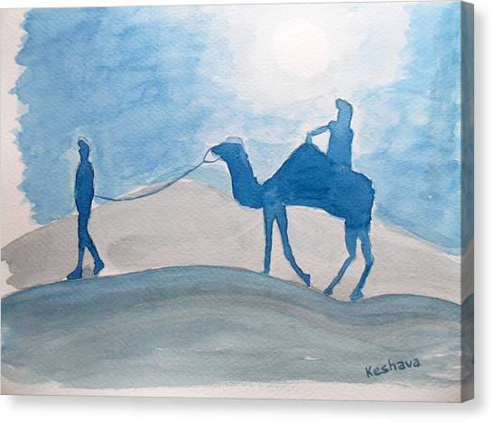 Rajasthani Blues Canvas Print