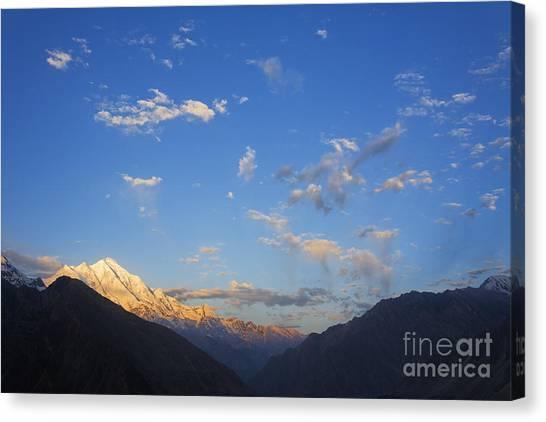 Karakoram Canvas Print - Rakaposhi Mountain In The Karakorum Pakistan by Robert Preston