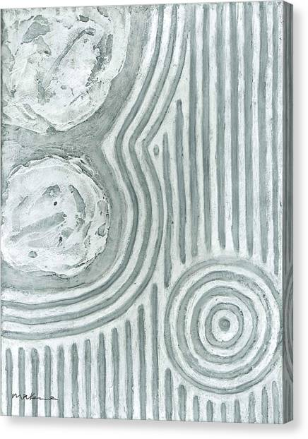 Raked Zen Whirlpool Canvas Print