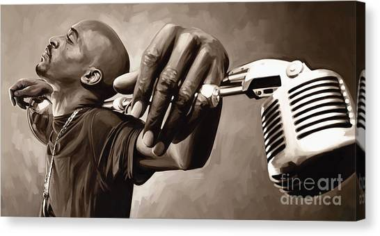 Hip Hop Canvas Print - Rakim Artwork by Sheraz A