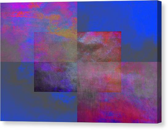 Frank Stella Canvas Print - Raku by Linda Dunn