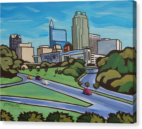 Raleigh Skyline 2 Canvas Print