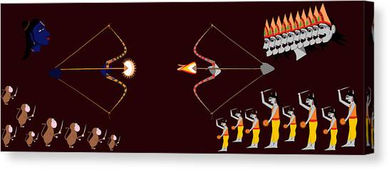 Rama Ravana War Canvas Print
