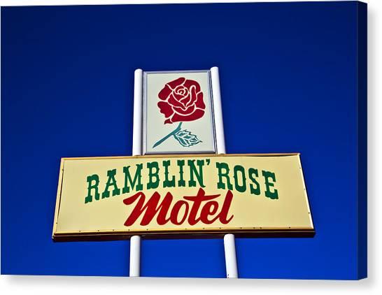 Ramblin' Rose Motel Canvas Print