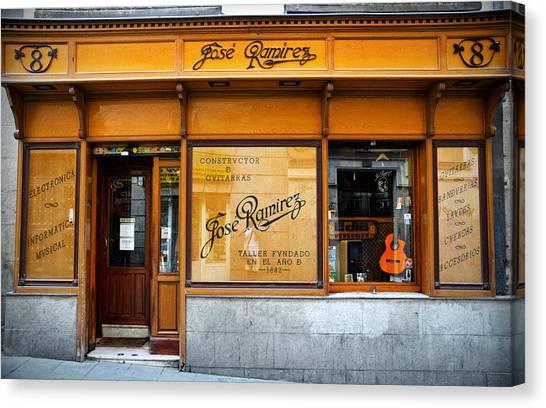 Classical Guitars Canvas Print - Ramirez Guitars Workshop by RicardMN Photography