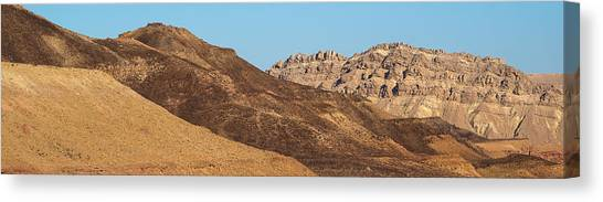 Negev Desert Canvas Print - Ramon Crater In The Negev Desert, Israel by Panoramic Images