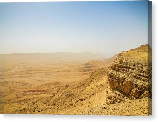 Negev Desert Canvas Print - Ramon Crater by Photostock-israel/cultura/science Photo Library