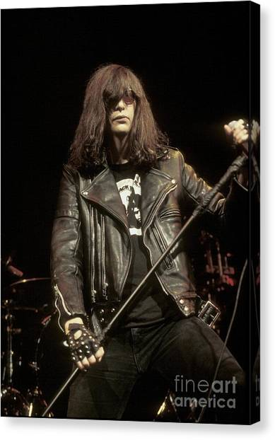 Ramones Canvas Print - Ramones - Joey Ramone by Concert Photos