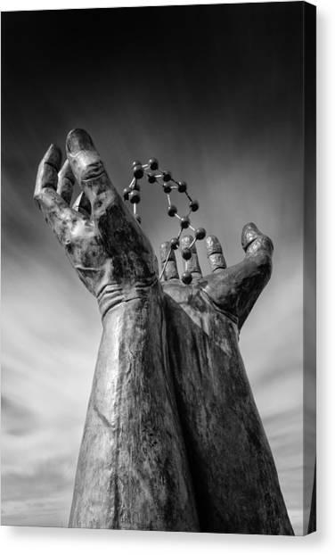 Molecule Canvas Print - Ramsgate - Hands And Molecule by Ian Hufton