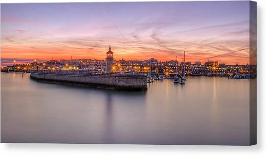 Ramsgate Harbour Summer Sunset  Canvas Print