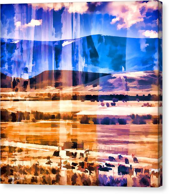 Ranchland Abstracted  Canvas Print