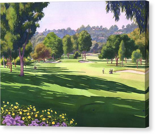 Golf Canvas Print - Rancho Santa Fe Golf Course by Mary Helmreich