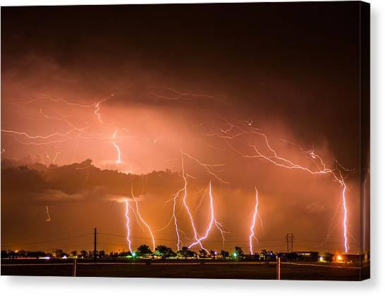 Randall Lightning Canvas Print
