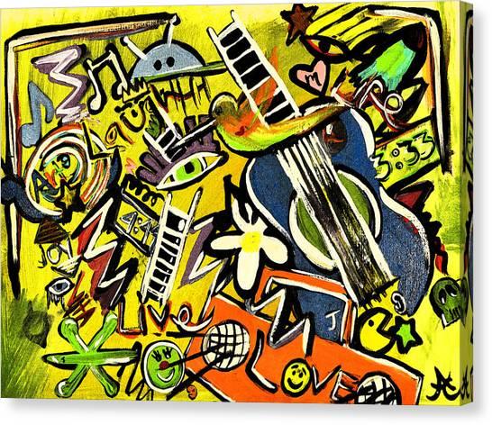 Random Canvas Print by LiL Bean Art