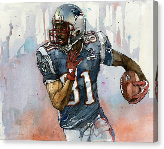 Patriot League Canvas Print - Randy Moss by Michael  Pattison