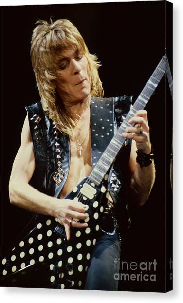 Randy Rhoads At The Cow Palace During Guitar Solo Canvas Print
