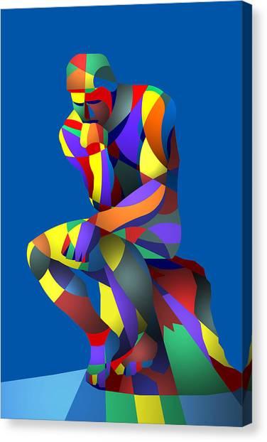 Randy's Rodin Blue Canvas Print