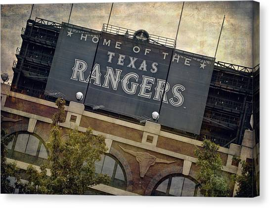 Rangers Ballpark In Arlington Color Canvas Print