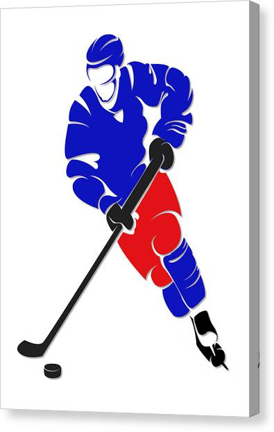 New York Rangers Canvas Print - Rangers Shadow Player by Joe Hamilton