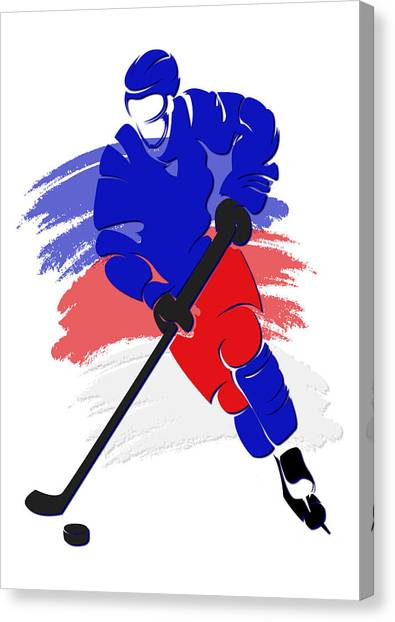 New York Rangers Canvas Print - Rangers Shadow Player2 by Joe Hamilton