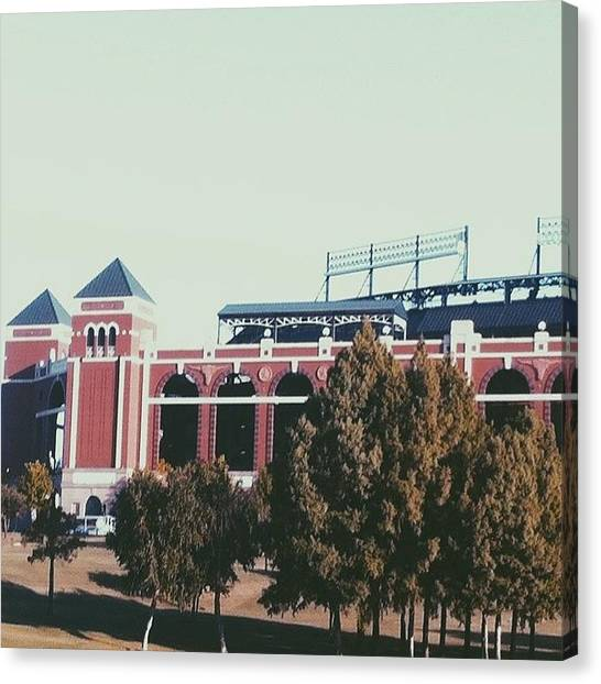 Texas Rangers Canvas Print - Rangers Stadium In Texas #rangers by Presley Kendall