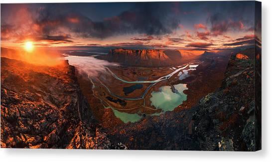Deltas Canvas Print - Rapa River Delta by Karol Nienartowicz